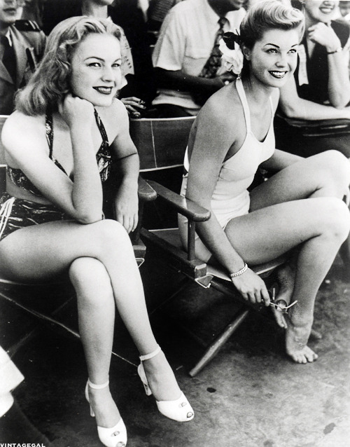 June Haver and Esther Williams, 1949