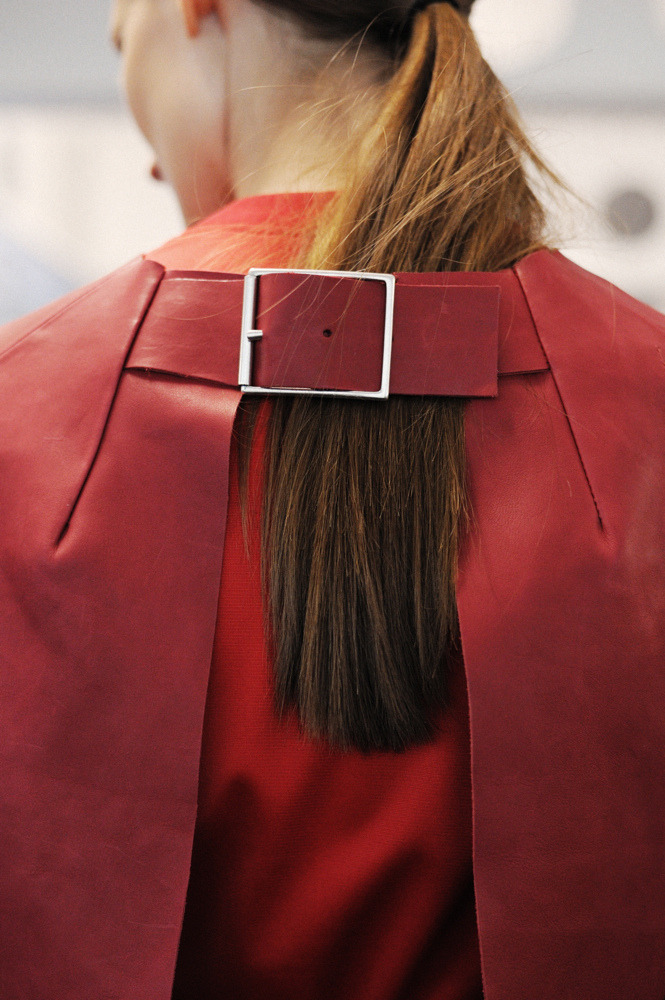 Backstage detail at Acne, spring 2013