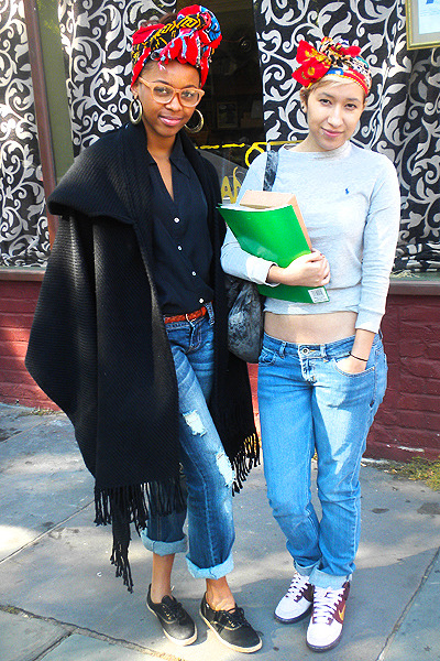 Raquel & Yaneth are wrapped up in eclectic style…Clinton Hill, Brooklyn (via LA Dossier)