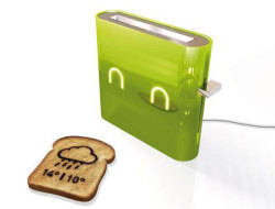 laughingsquid:  Jamy, A Weather Forecasting Smart Toaster  Nice!