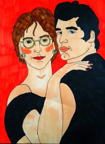 hillarybuckholtz:  bobbyfinger:  Olivia Newton John Lennon - by Morgan Cline  this is magestic