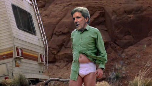 Casting Breaking Bad with 15 Political Figures John Kerry in his underwear outside an RV meth lab? Sold.