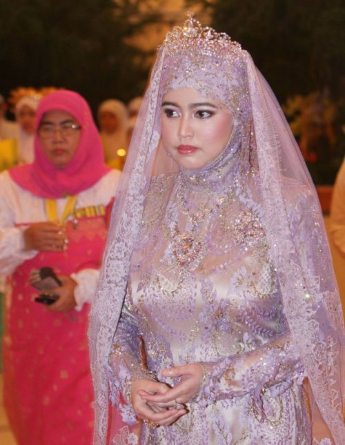 Princess Hajah Hafizah Sururul Bolkiah during her wedding