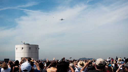 Last one. The crowd at the Observatory, about the moment a large group of schoolchildren started singing the national anthem.