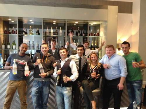 Check out the good looking bunch of bartenders from the Del Aziz group in London! We spent a really 'tough' afternoon creating delicious Belvedere cocktails, 5 of which will be featured on the new menu at all of the DA outlets in London. The Belvedere Black Raspberry Sour was a particular favorite, as was the Citrus Rosemary Gimlet, and the unexpected Belvedere Bloody Mary Mule. Thanks Joe Rorke for organizing everything and for making this picture extra sexy ;)
