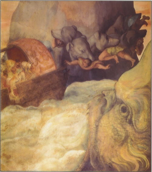 Scylla and Charybdis were mythical sea monsters noted by Homer, later Greek tradition sited them on opposite sides of the Strait of Messina. Scylla was rationalized as a rock shoal (described as a six-headed sea monster) and Charybdis was a maelstrom on the opposite coast. They were regarded as a sea hazard located close enough to each other that they posed an inescapable threat to passing sailors, avoiding Charybdis meant passing too close to Scylla and vice versa. According to Homer, Odysseus was forced to choose which monster to confront while passing through the strait, he opted to pass by Scylla and lose only a few sailors, rather than risk the loss of his entire ship in the whirlpool.