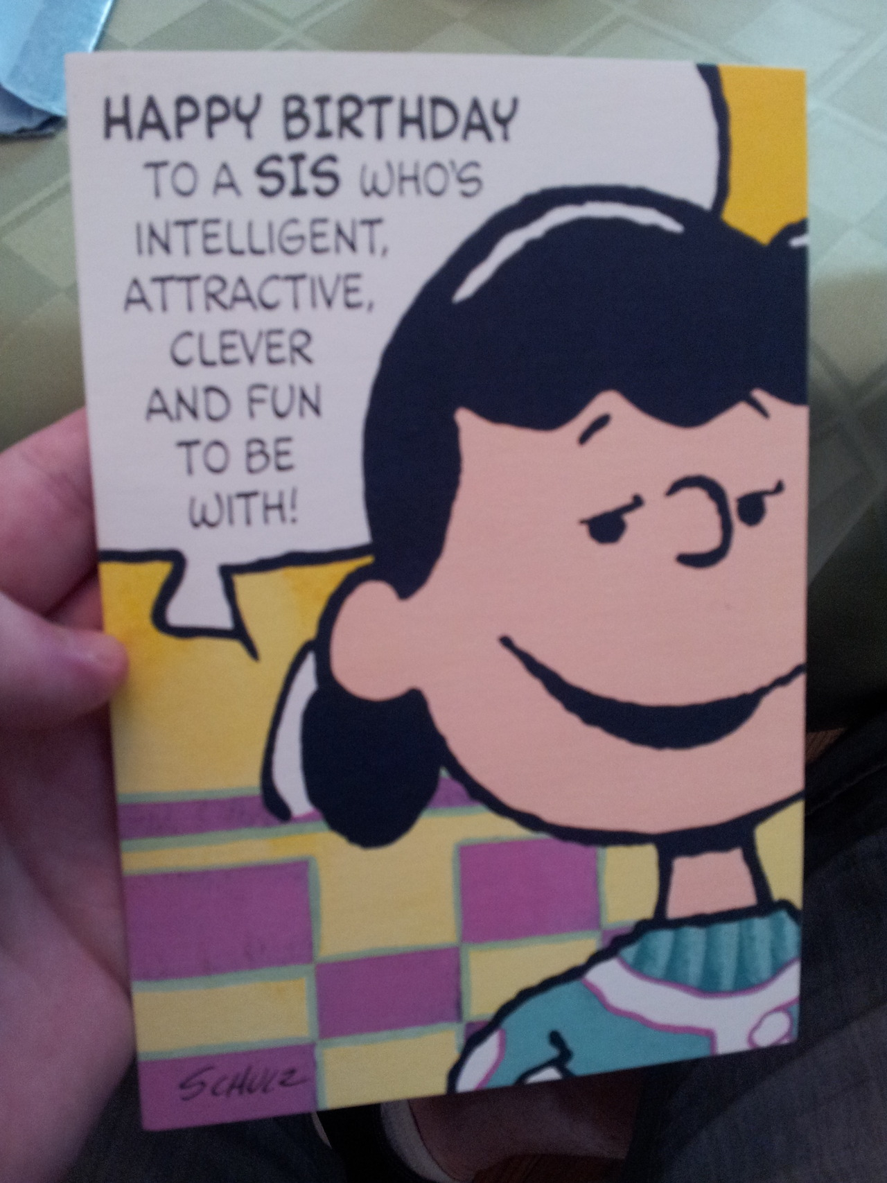 lulz-time:  probablyharrison: my grandma and great aunt have passed this card back and forth every birthday for almost 20 years This post has been featured on a 1000notes.com blog.