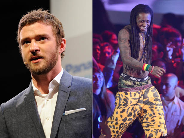 Justin Timberlake vs Lil Wayne.  Vote for your Favorite Male Artist NOW.