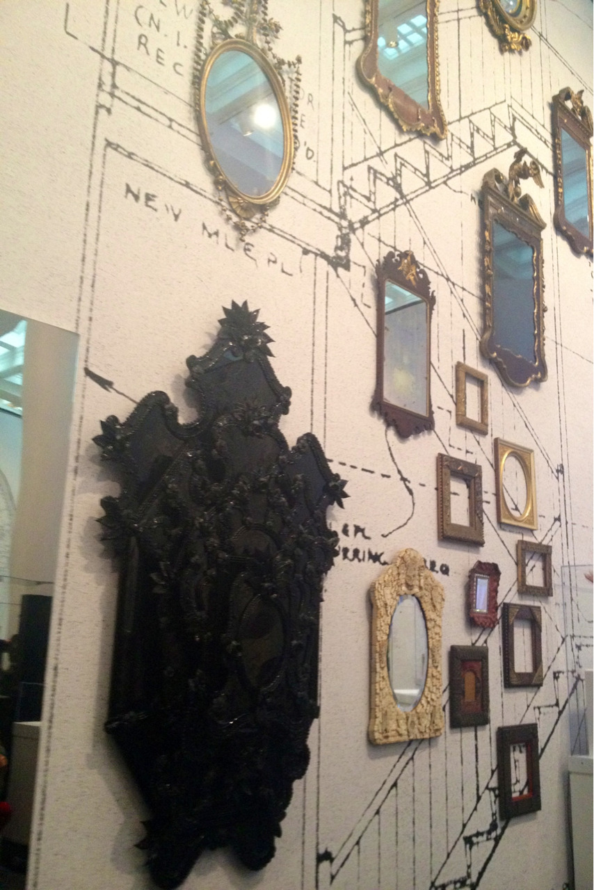 the mirror collection at the Brooklyn Museum of Art