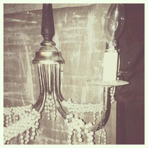 #basement #old #vintage #chandelier #light #pearls #broken #beautiful #photography #iphonography #dmorrisphotography #mywork #myphotography #lightbulbs #antique (Taken with Instagram)