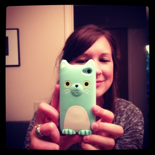 My new obnoxiously cute iPhone case came in the mail today! (Taken with Instagram)