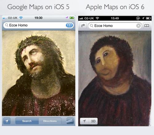 The difference between Google and Apple Maps, explained with Jesus Via Submitted by InformationDesk