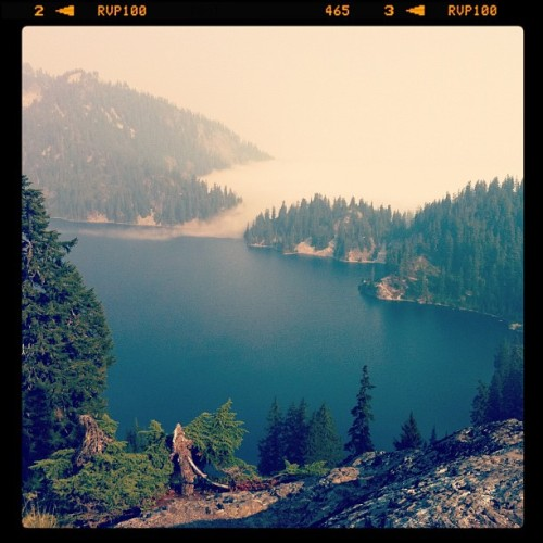 Can't beat this as a start to the work day. #snowlake #washington  (Taken with Instagram)