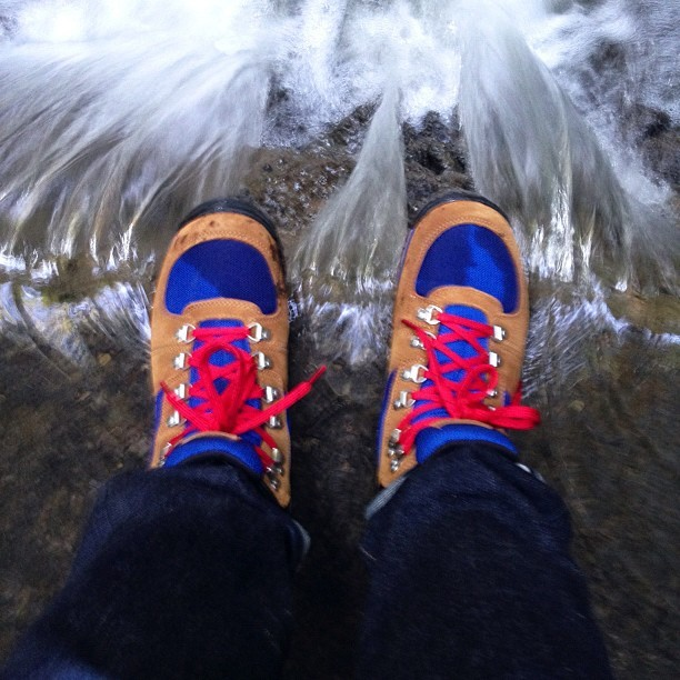 These aren't waterproof but this was totally worth it. #walkwithmebymt #timberland see @petewilliams shot of me shooting this. (Taken with Instagram)