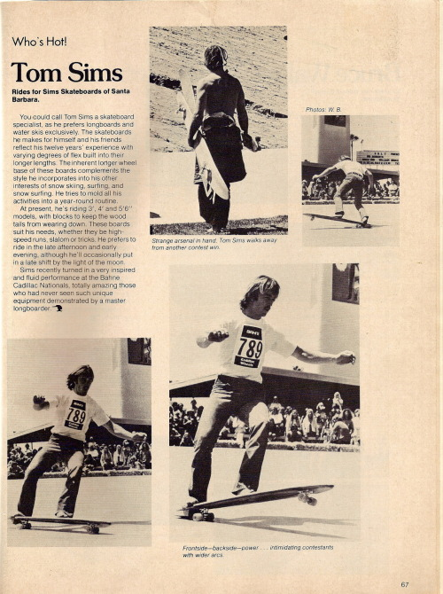 Tom, the 'Undisputed Father of Longboarding' featured in a Skateboarder Magazine Article. Mid 1970's #foreveralegend