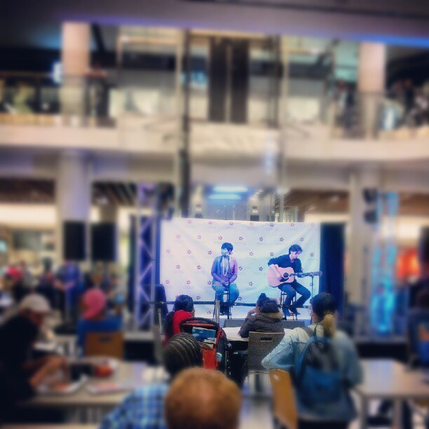 @savannahremusic is KILLING it at Eaton Center right now!!! (Taken with Instagram)