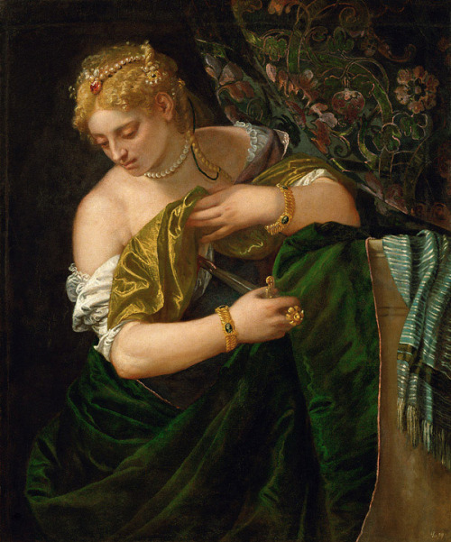 peril:  Lucretia (circa 1585), Oil on canvas, Kunsthistorisches Museum, Vienna | artwork by Paolo Veronese