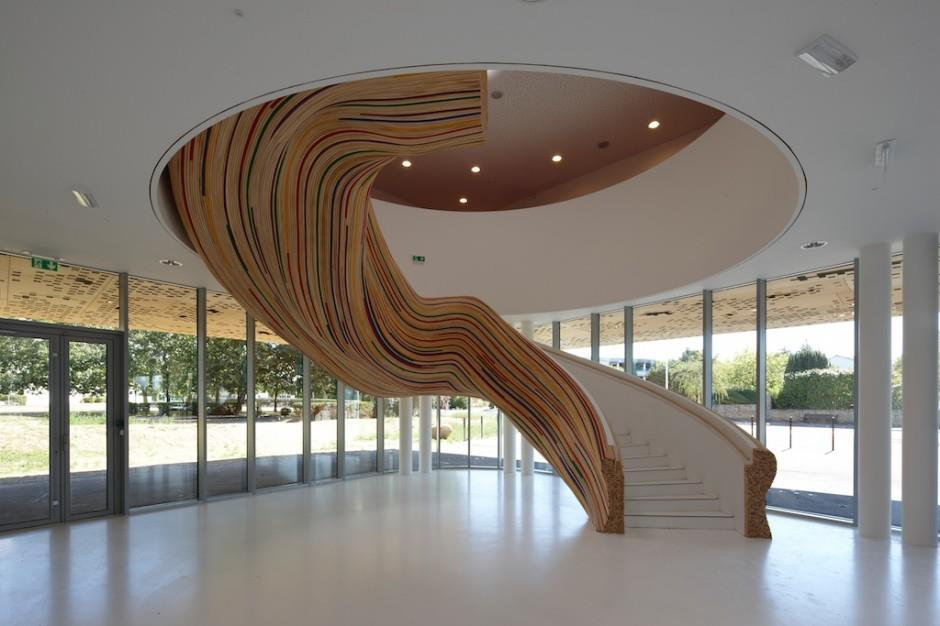 actegratuit:  Stairs at The School of Arts by Tétrarc Architects