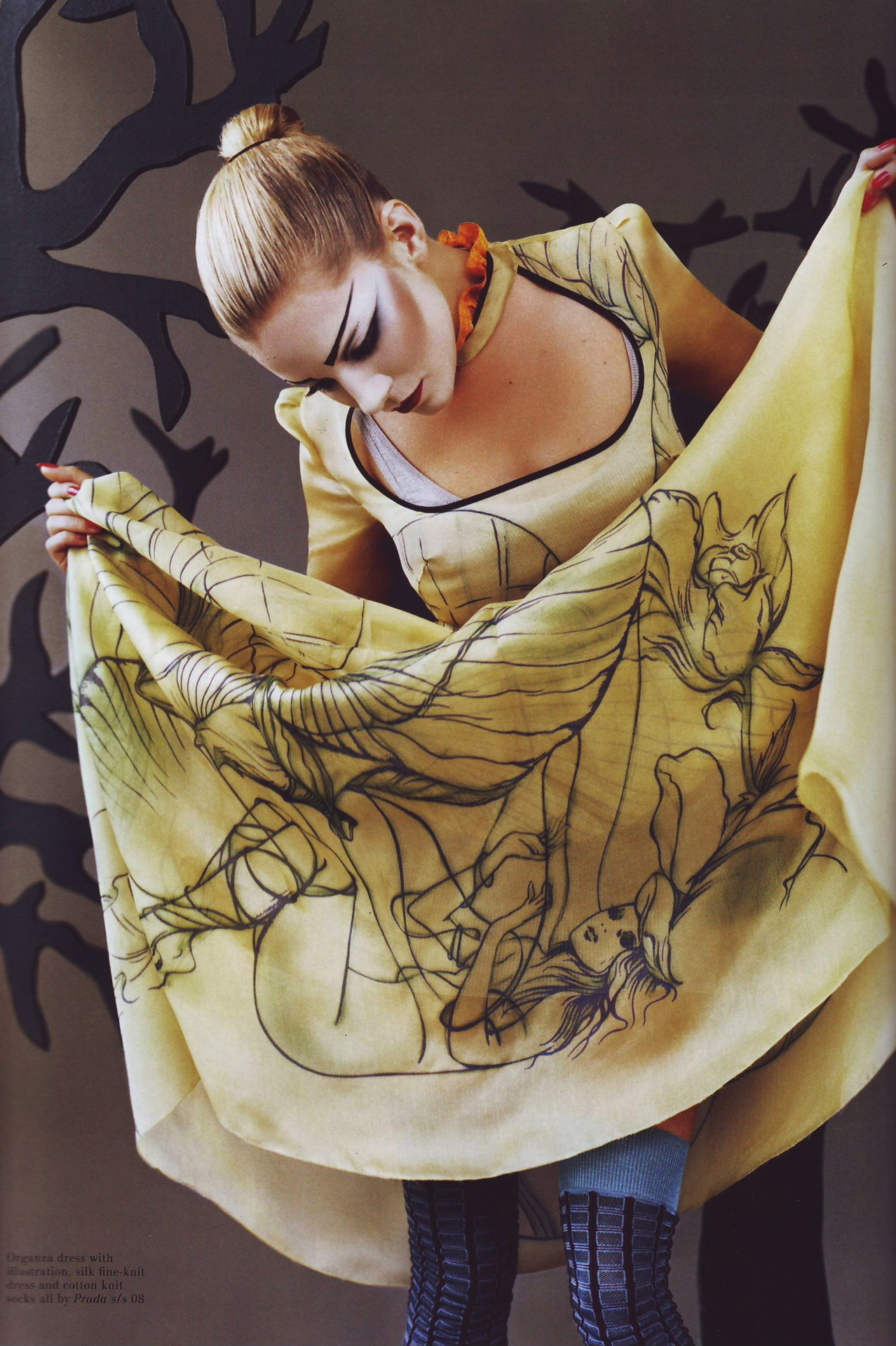 "birdwings:   ""Serenading Sienna"" Model: Sienna Miller Publication: Pop, Fall/Winter 07.08 Styling: Oliver Rizzo  RIP good Prada </3  Fashion has my heart"