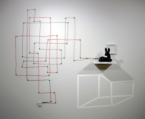 David Gallagher: Domestic Inversion, 2011, Porcelain, Enamel, LED, Wire, Lithium Rechargeable Battery