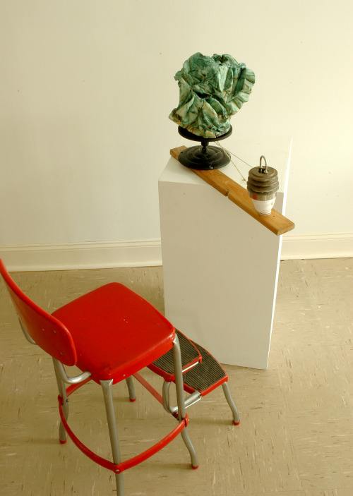David Gallagher: The Function of Objects, 2009, Talc Clay, Glaze, Found Objects