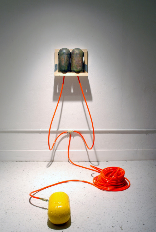 David Gallagher: Inputs - Output, 2011, Handbuilt ceramics, mixed media