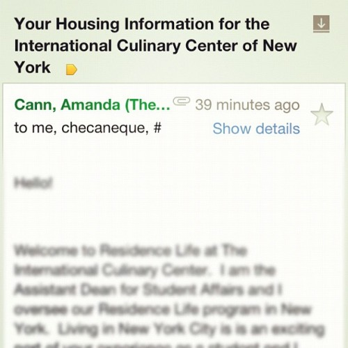 Well, it's all really happening now! 22 days til NYC. (Taken with Instagram)