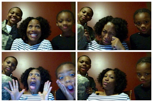 Fun times with my kids!  OMG, I could do this photobooth all day. The OBJECT was to have one happy photo, one sad, one shocked and one mean mug. We could all use more practice but we had a ton of laughs!!  Whoo lawd! This is NOT a side I have shown the blogger world, LOL! Living Simplistically!