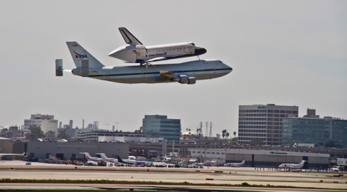 We got a pretty good view of the Endeavour from our office. Who else got to see the final flight?