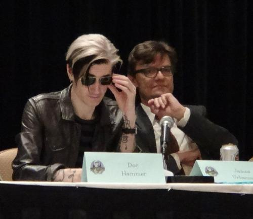 fuckyeahdochammer:  Doc Hammer and James Urbaniak | Dragon*Con 2012