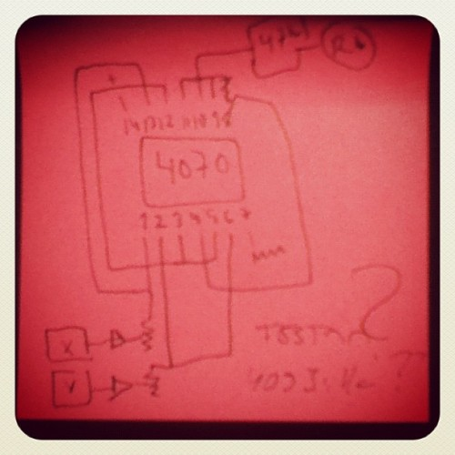 Ring modulator schematics. (Taken with Instagram)