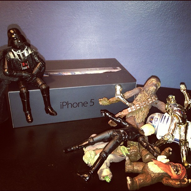 """I am Darth Vader; I wait in no lines."" #iPhone5 #StarWars  (Taken with Instagram)"