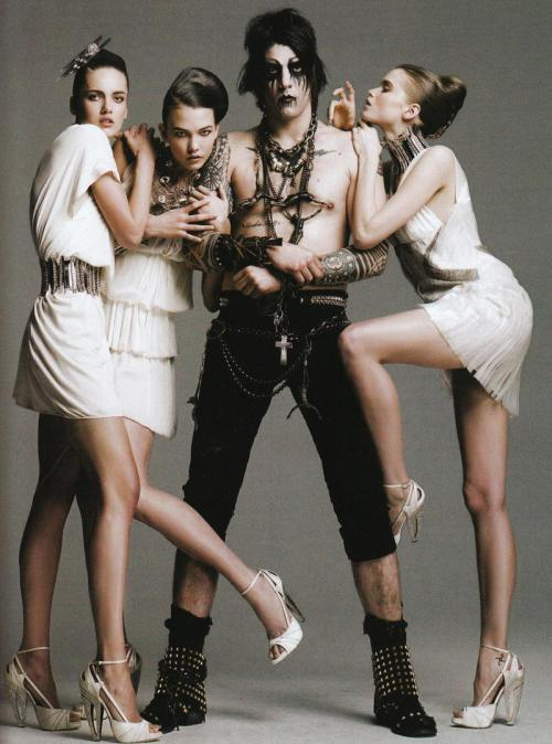 Abbey Lee Kershaw, Karlie Kloss and Karmen Pedaru by Greg Kadel for Numero, May 2008