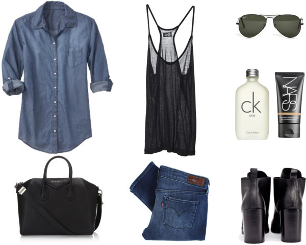 model off-duty/denim tuxedo http://carollena.polyvore.com/