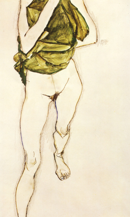 """Standing Female Nude"", 1913  By: EGON SCHIELE…."