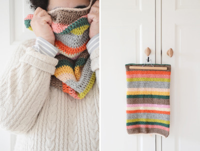 podkins:  ♥ Crochet a Stripey Cowl ♥ A great pattern for beginners found at The Yvestown Blog.