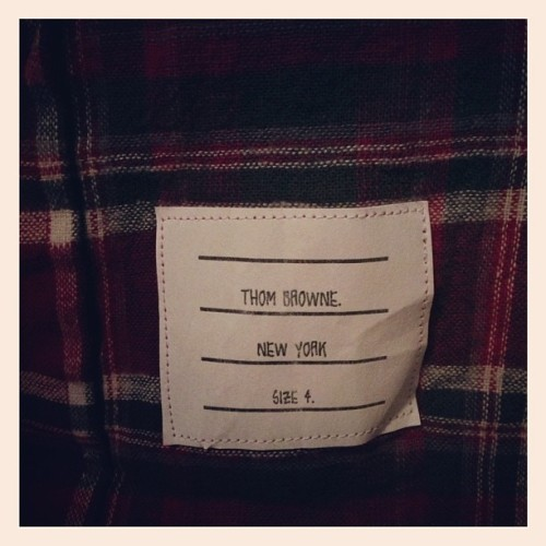 Thom Browne flannel around my waist (Taken with Instagram)