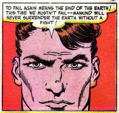 onepanel:  Never Surrender! Mystery In Space #1, 1951