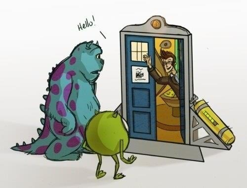 th3blankslat3:  Doctor Who+Monsters Inc
