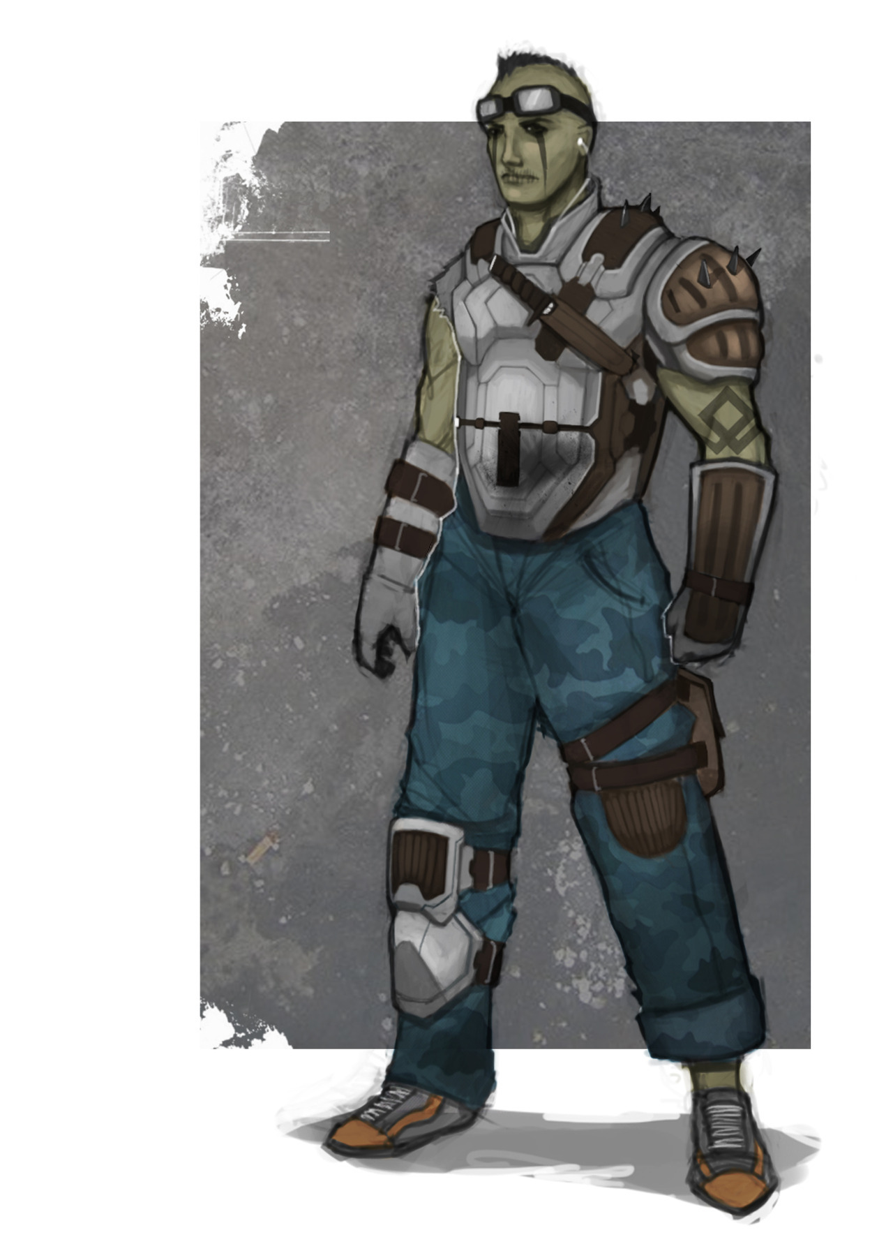 Concept art for a rebel soldier kinda guy.