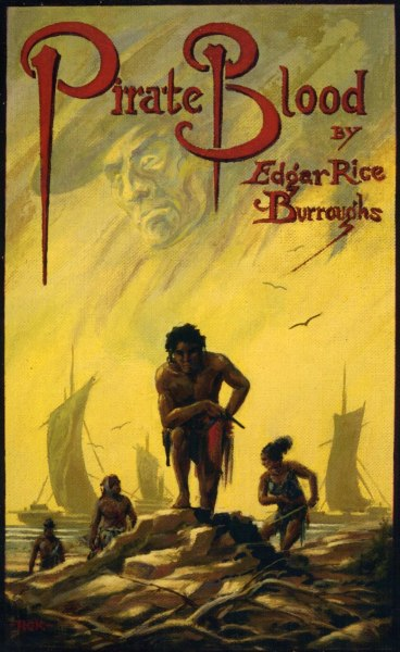 Edgar Rice Burroughs; misc. covers on Golden Age Comic Book Stories  Pirate Blood - A modern-day young man named Lafitte, a descendant of the New Orleans pirate of the same name, finds himself thrown by a bizarre set of events into his ancestor's profession. The tale is a semi-serious takeoff on the hoary theory that heredity equals destiny. It appeared in the collection The Wizard of Venus (Ace Books, August 1970) +
