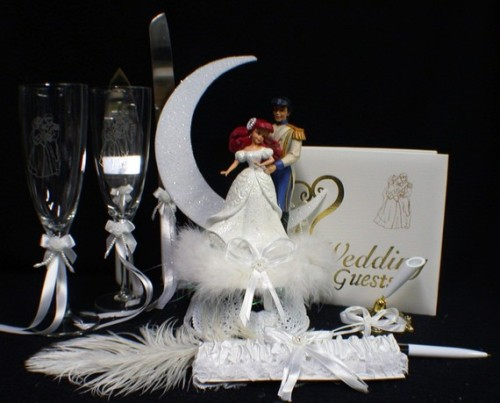 heckyeahdisneymerch:  Wedding set full of Ariel goodies!