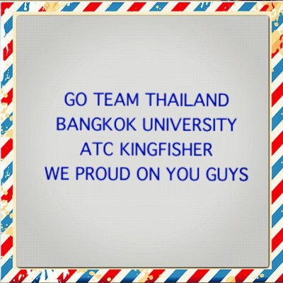 pls #teamthailand #soupporter both of them #bangkokuniversity #BU #ATC #kingfisher in #japan #cheerleading #competition  (Taken with Instagram)