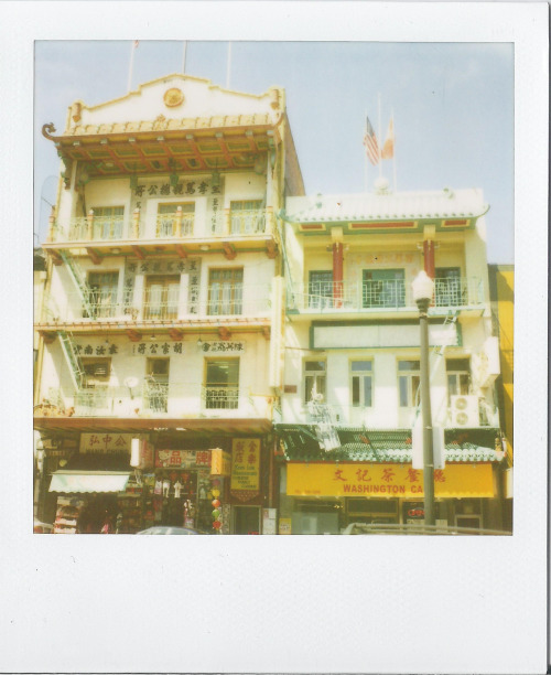 polaroidgang:  Fronts of buildings.