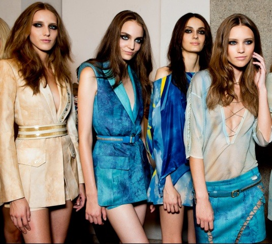 Backstage at Versace spring 2013.Photographed by Kevin TachmanSee the full collection on Vogue.com.