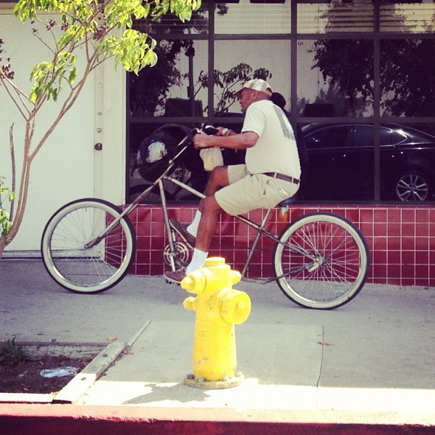 #igla #seniorcitizen #rollin #brownpaperbag #dui #chopper #bicycle #westcoastcustoms #specialconstruction LMFAO! (Taken with Instagram)