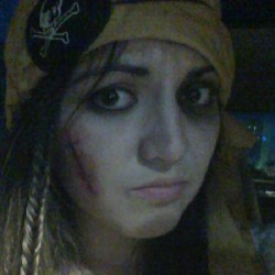 The price of being a pirate #blackeye #scar #pirate #piratesleague  (Taken with Instagram)