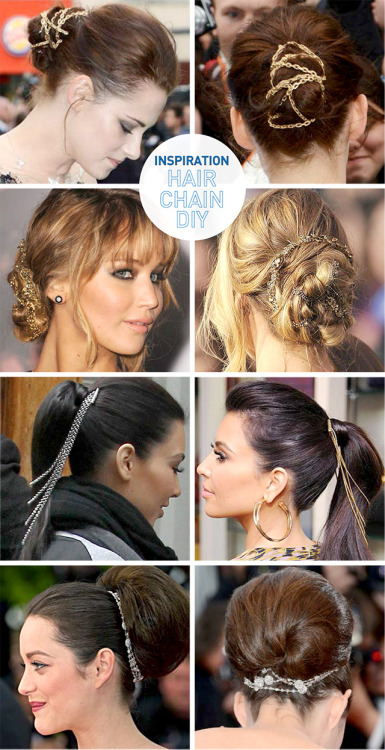 (via I Spy DIY: [DIY Inspiration] Hair Chain)