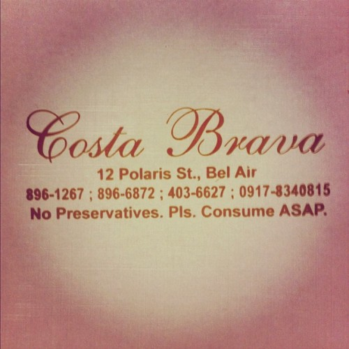 Discovered a new favorite! Best cakes in Manila!! #costabrava (Taken with Instagram)