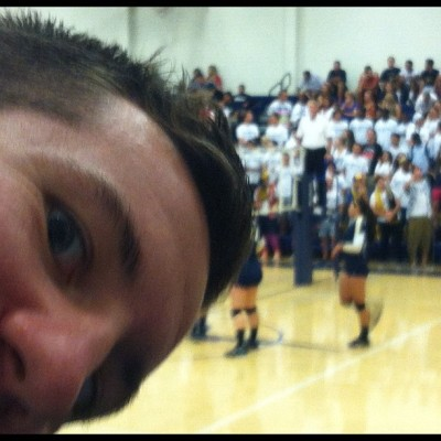 Enjoying the volleyball game with @acook015  (Taken with Instagram)